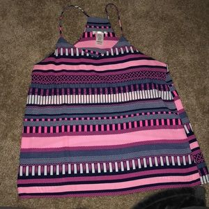 Striped Neon Pink Tank